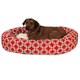 Majestic Pet Red Links Sherpa Bagel Bed 52 inch