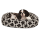 Majestic Pet Black Links Sherpa Bagel Bed 52 inch