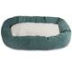 Majestic Pet Azure Villa Sherpa Bagel Bed 52 inch