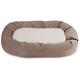 Majestic Pet Pearl Villa Sherpa Bagel Bed 52 inch