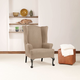 Sure Fit Stretch Wing Chair Slipcover Taupe