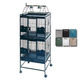 A and E Double Stack Playtop Bird Cage Black