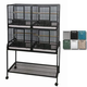 A and E 4-Unit Bird Cage Platinum