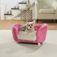 Enchanted Home Pet Pink/Fur Seat Snuggle Dog Bed