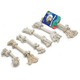 2 Knot White Rope Bone Dog Toy Small