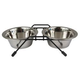 Stainless Steel Double-Diner Dog Feeder  16oz