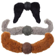 Doggles Mustache Dog Toy Rust Straight