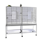 A and E Double Flight Bird Cage White