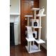 Armarkat Deluxe Cat Tree Model B7701 77in Ivory