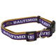 Baltimore Ravens Ribbon Dog Collar Large