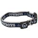 Dallas Cowboys Ribbon Dog Collar Small