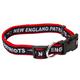 New England Patriots Ribbon Dog Collar Large