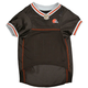 Cleveland Browns White Trim Dog Jersey Large