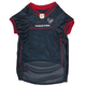 Houston Texans Red Trim Dog Jersey XSmall