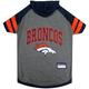 Denver Broncos Hoodie Dog Tee Shirt XSmall