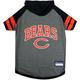 Chicago Bears Hoodie Dog Tee Shirt Large