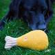 Hugglehounds Thanksgiving Wooly Turkey Leg Dog Toy