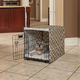 Quiet Time Covella Brown Dog Crate Cover 48in