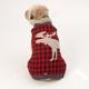 Petrageous Buffalo Check Moose Dog Sweater Large