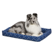 Quiet Time Ashton Blue Bolster Dog Bed 48in