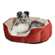 Quiet Time Tulip Russet Bolster Dog Bed 26in