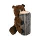 KONG Huggz Hiderz Plush Dog Toy Small Raccoon