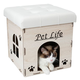 Pet Life Foldaway Collapsible Cat House White