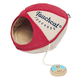Touchcat Saucer Oval Walk-Through Cat House Red