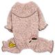 Touchdog Bark-Zz Thermal Jumpsuit Dog Pajamas XS