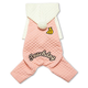 Touchdog Quilted Dog Hooded Sweater L Pink