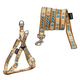 Touchdog Caliber Dog Leash And Harness Sm Brown
