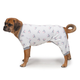 Zack and Zoey Dog Pajamas X-Small Silver