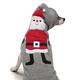 Zack and Zoey Hooded Santa Dog Sweater Medium
