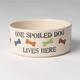 Petrageous One Spoiled Pet Dog Bowl