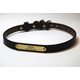 Personalized Mahogany Dog Collar with Brass 25in