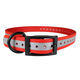 Cut to Fit Reflective Dog Collar Red