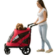 Pet Gear Excursion No Zip Pet Stroller Candy Red