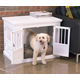 Merry Products Triple Door Medium Dog Crate White