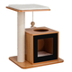 Elegant Home Natural Cat Scratch Post House White