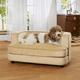 Enchanted Home Pet Cliff Caramel Sofa Dog Bed