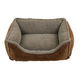 Faux Suede/Berber Choco Comfy Cup Dog Bed XLarge