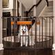 Carlson Pet Design Paw Extra Wide Gate w/ Pet Door
