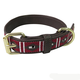 Halo Kelly Leather Dog Collar Small White/Red