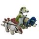 Multipet Plaidosaurus Plush Dog Toy Triceratops
