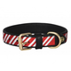 Halo Candy Cane Leather Dog Collar Small