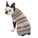 Petrageous Fair Isle Dog Sweater XSmall Taupe