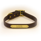 Personalized Synthetic Dog Collar XLarge Red