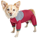 Helios Tail Runner Dog Tracksuit XSmall Red/Grey
