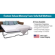 Custom Deluxe CoolMax Sofa Bed Mattress With Memory Foam