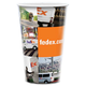 24 oz. White Plastic Cups with Full Color Graphics